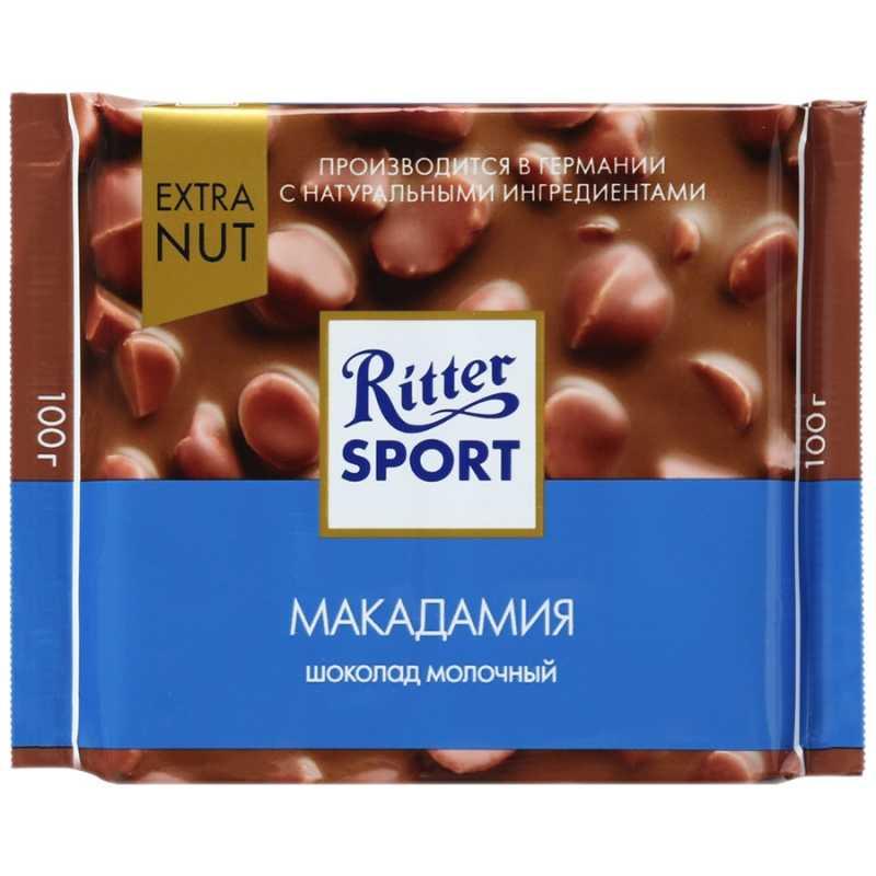 Шоколад Ritter Sport молочный с орехом макадамия шоколад молочный ritter sport ром орех изюм 100 г