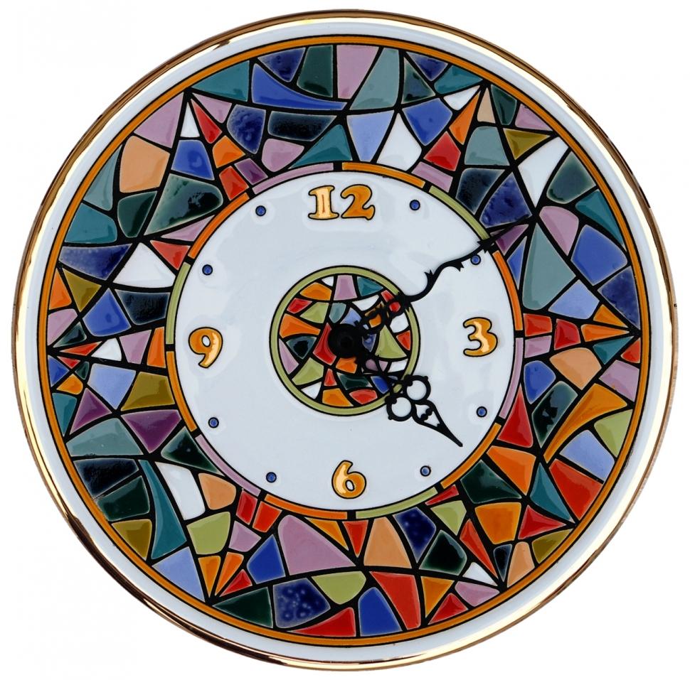 Настенные часы Terra Design Terra Gaudi, белый, красный, синий, золотой