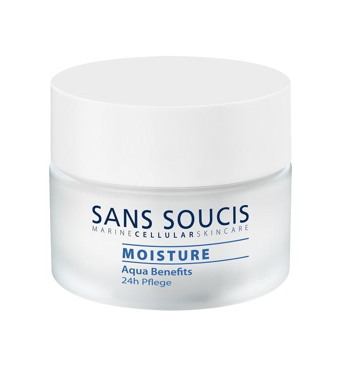 Крем для ухода за кожей Sans Soucis  Крем увлажняющий 24 -часового ухода «MOISTURE AQUA BENEFITS» , 50мл, 50 Sans Soucis