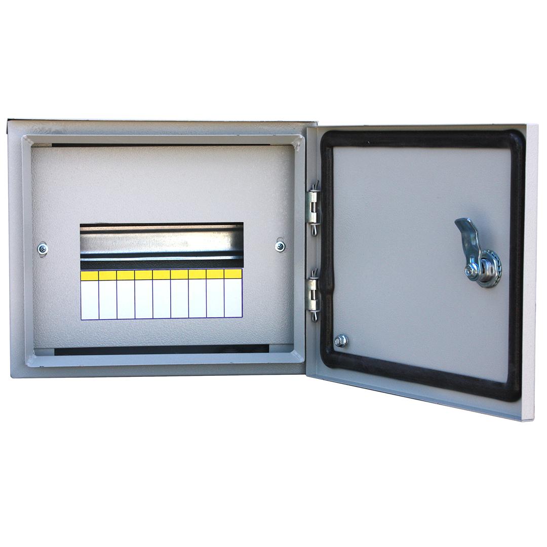 Короб установочный RUCELF Щит распределительный навесной ЩРН-9 IP54 3 кг, серый навесной распределительный щит щрн 9 ip54 250х300х120мм rucelf 00002247