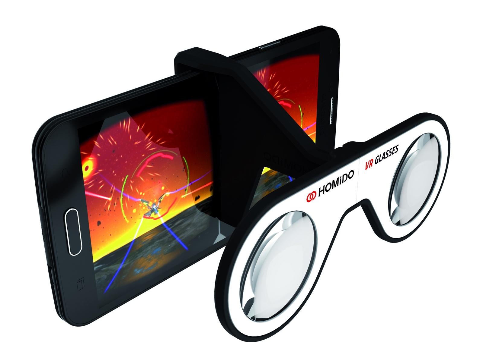 лучшая цена Очки виртуальной реальноcти для смартфонов Homido mini, HMD-mini