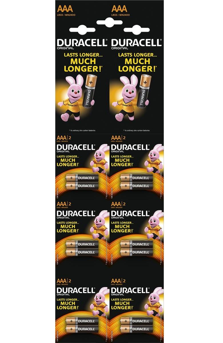 Батарейка DURACELL LR03 отрывной BASIC 2*6 BL12 (цена за 12 шт.) батарейки duracell аа lr6 2bl basic cn 2 шт