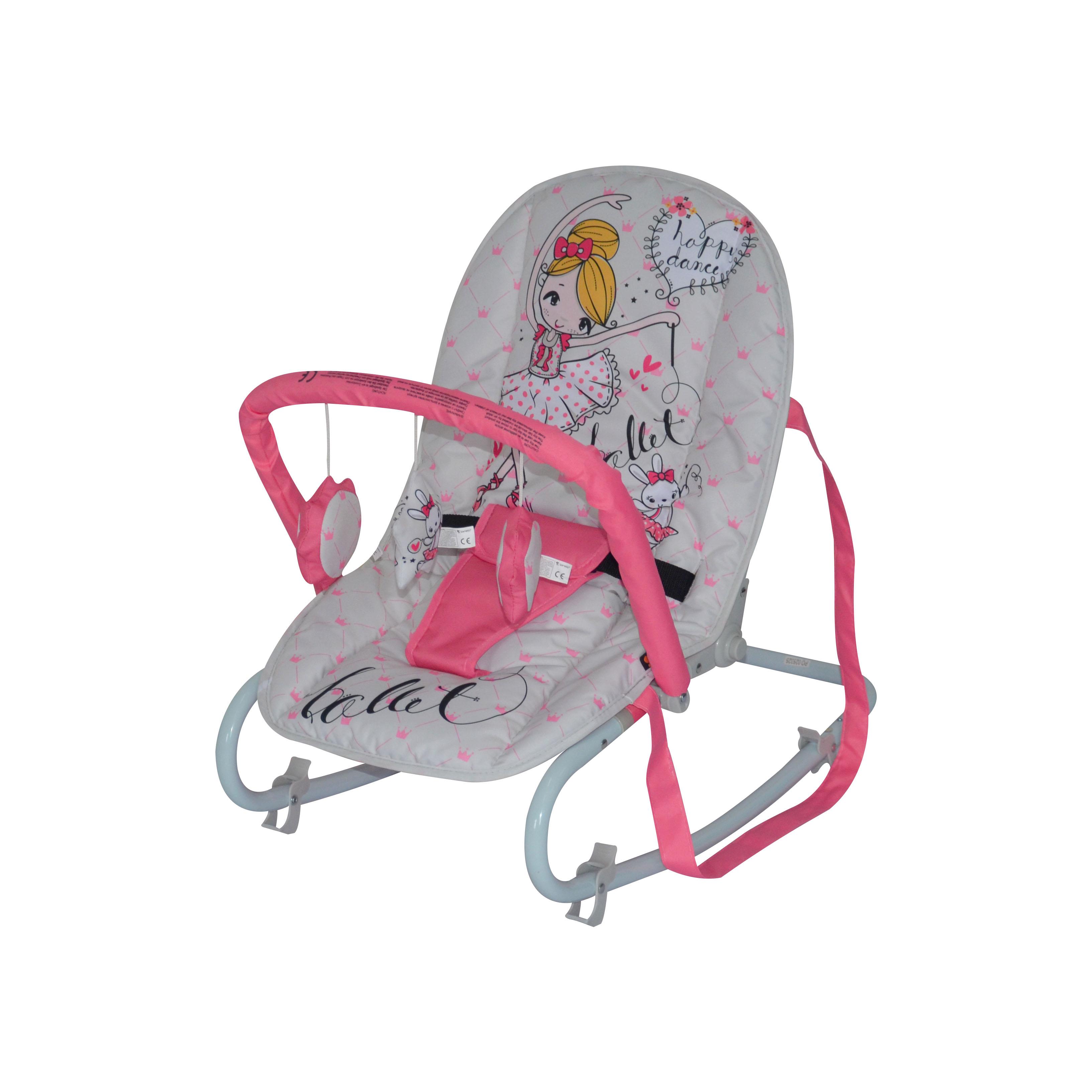 Шезлонг для новорожденных Lorelli Top relax, 10110021933 розовый, серый