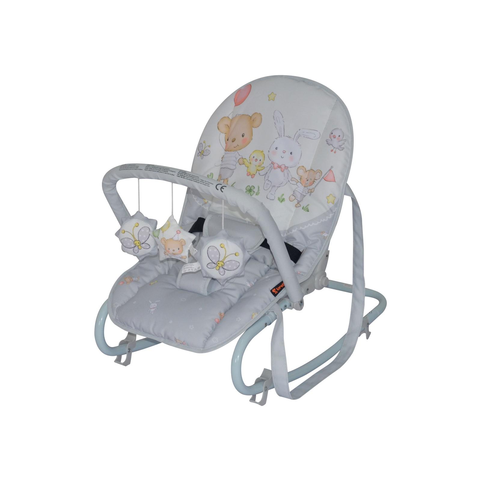 Шезлонг для новорожденных Lorelli Top relax, 10110021945 серый bertoni lorelli шезлонг качалка 3 в 1 chill out