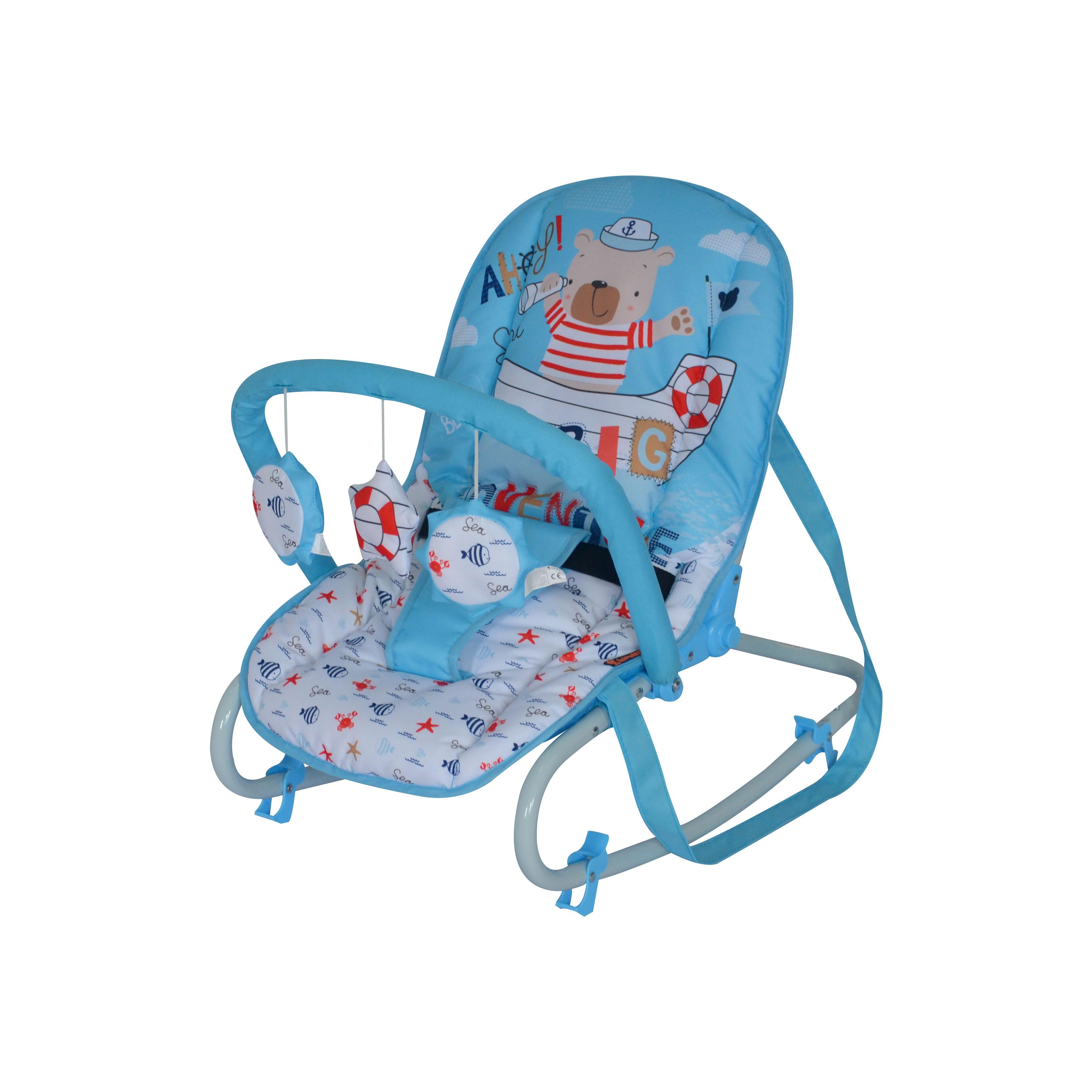 Шезлонг для новорожденных Lorelli top relax, 10110021923 голубой bertoni lorelli шезлонг качалка 3 в 1 chill out