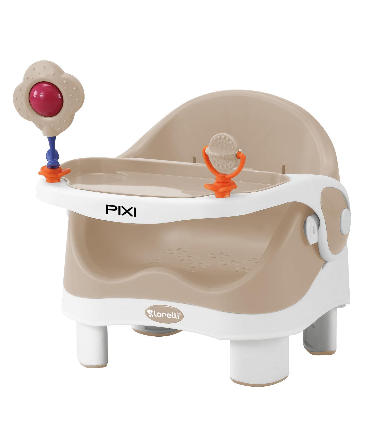 Стульчик для кормления Lorelli Pixi, 10100282 бежевый, белый стульчик для кормления lorelli