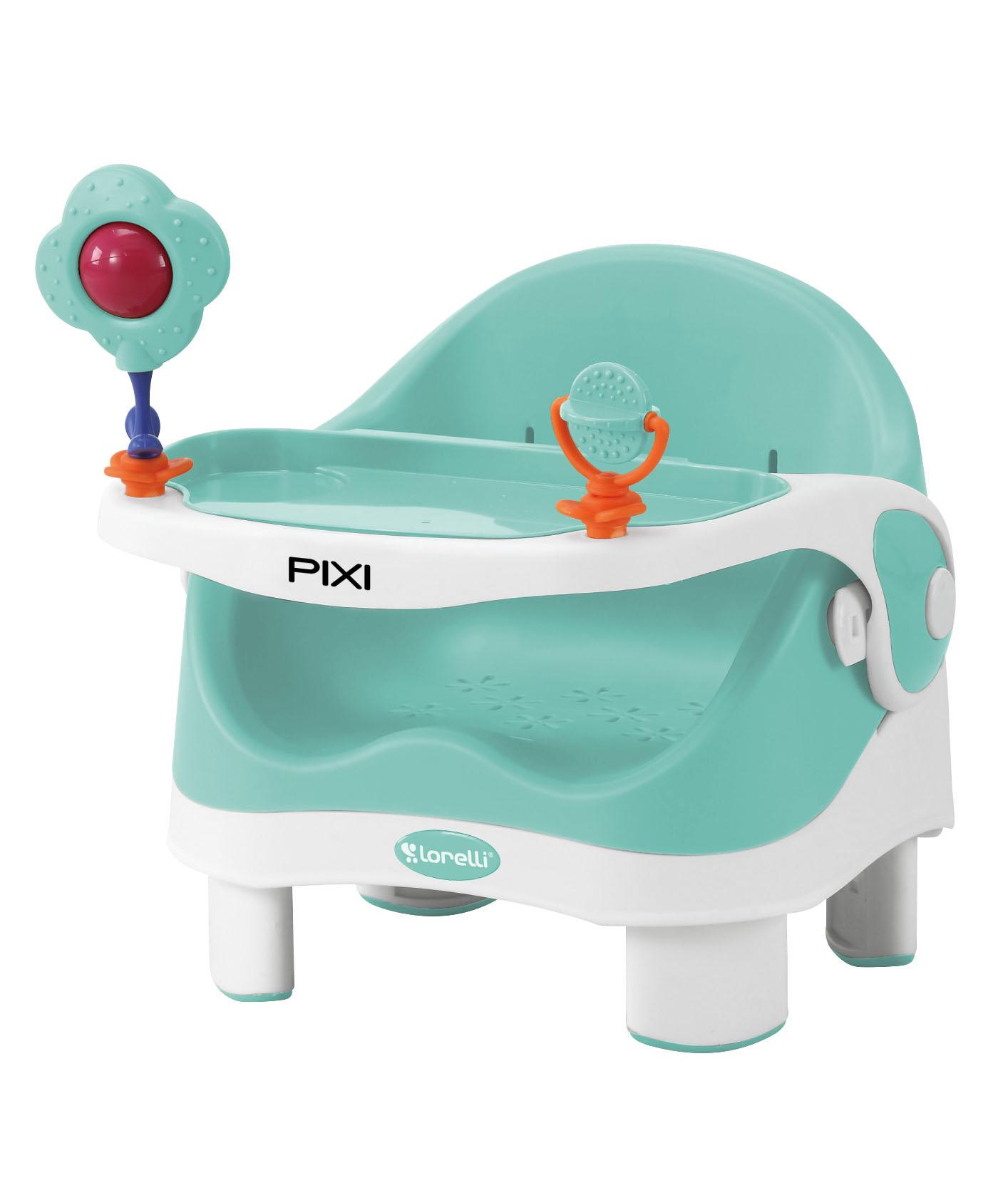 Стульчик для кормления Lorelli Pixi, 10100281 белый, зеленый стульчик для кормления lorelli