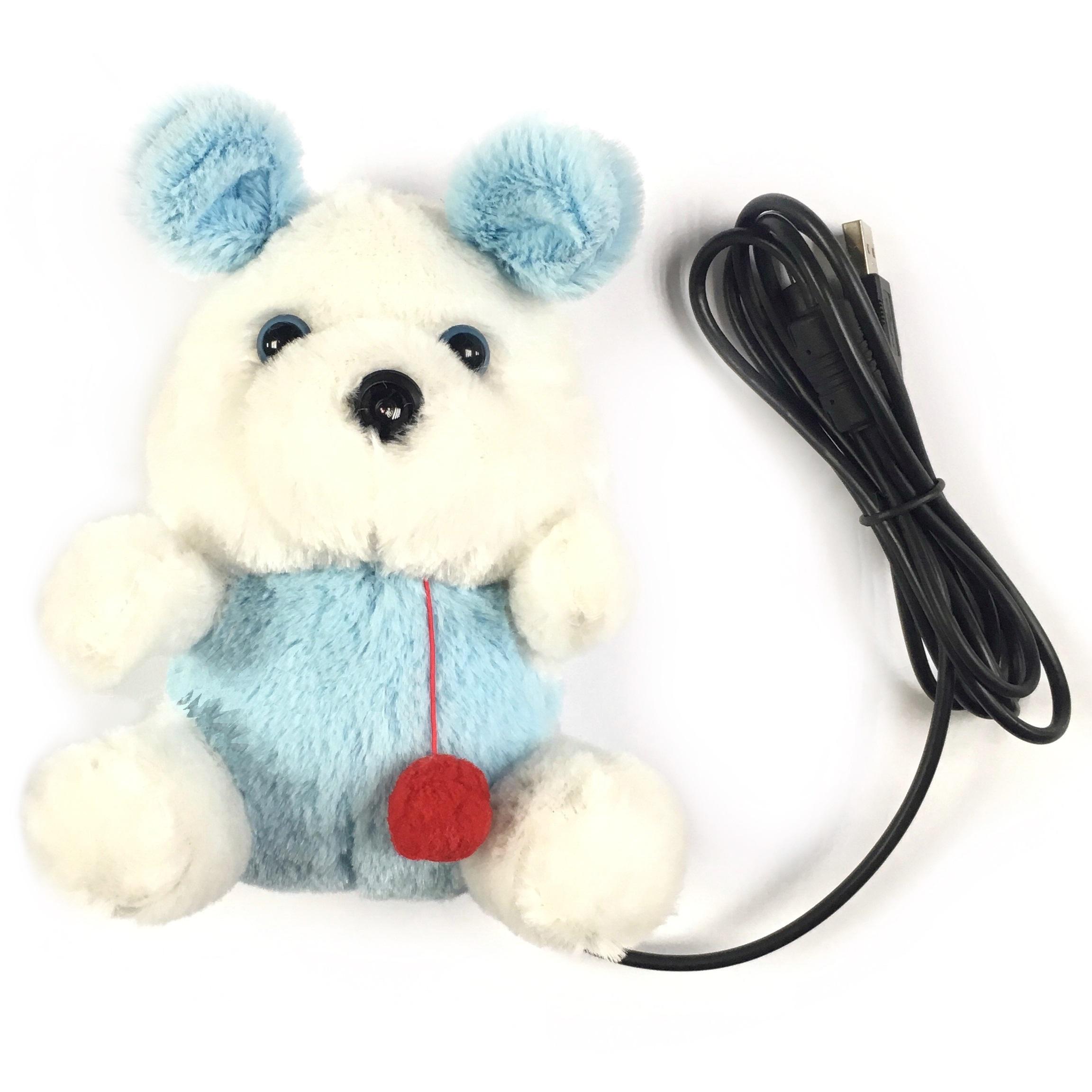 Web-камера AGESTAR S-PC219, Заяц, USB, S-PC219, белый, голубой видеоэффекты для веб камеры