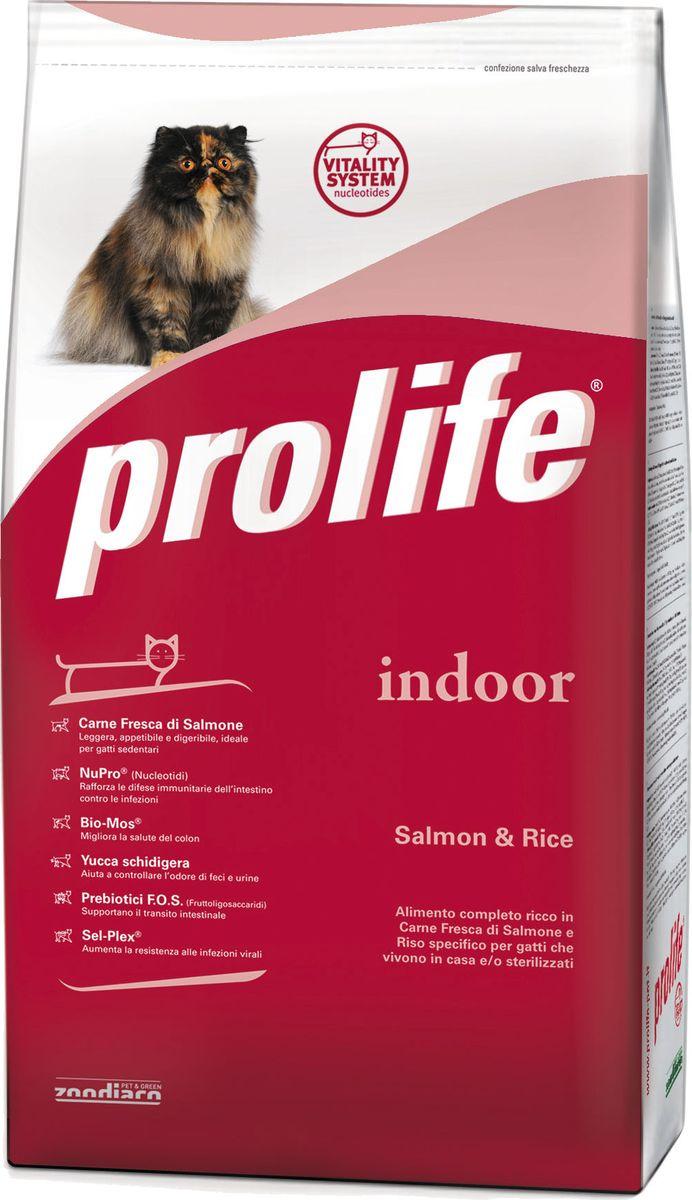 Корм сухой Prolife для домашних кошек, лосось, рис, 12 кг