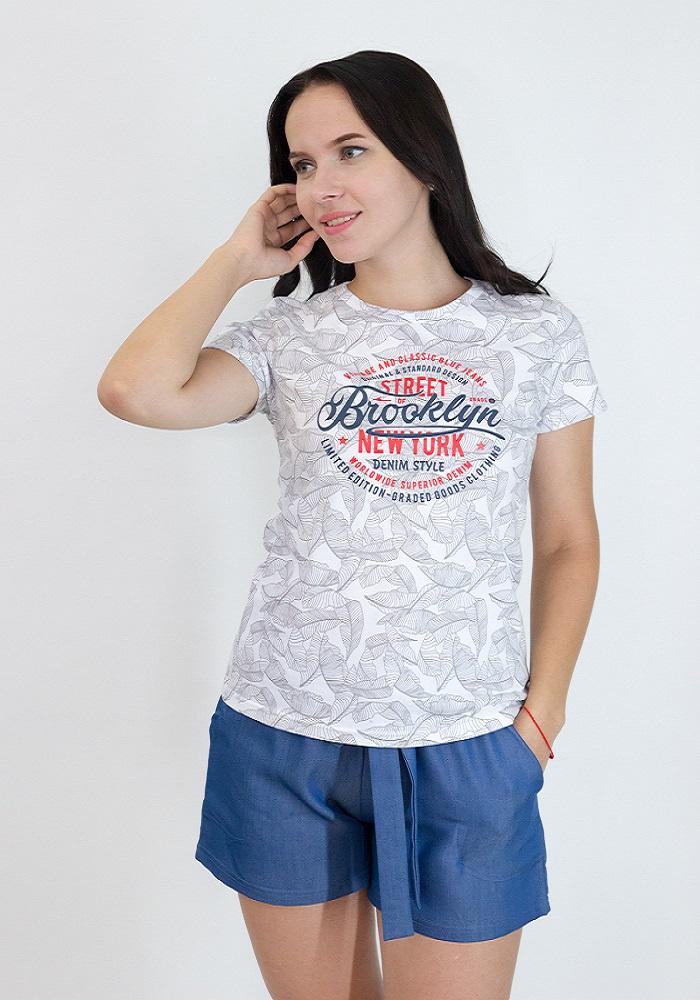 Комплект одежды Miata 2834/054/42, серый, белый 42 размер2834/054/42Комплект из комбинированных тканей. Футболка из трикотажного полотна (лакоста), украшена принтом. Шорты из 100% хлопка (текстиль), с карманами, с поясом-завязкой.