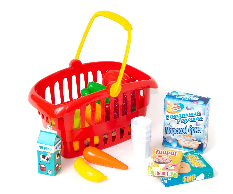 цена на Сюжетно-ролевые игрушки ORION TOYS Корзина Супермаркет 362в2, 1008661 красный