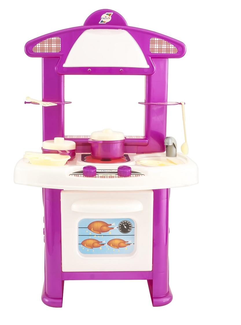 цена на Сюжетно-ролевые игрушки ORION TOYS Кухня 402 с набором посуды, 1104813