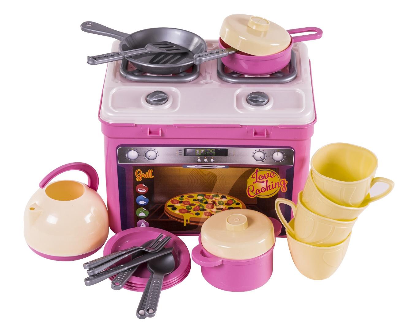 цена на Сюжетно-ролевые игрушки ORION TOYS Кухня Адель 816 с набором посуды, 1156241
