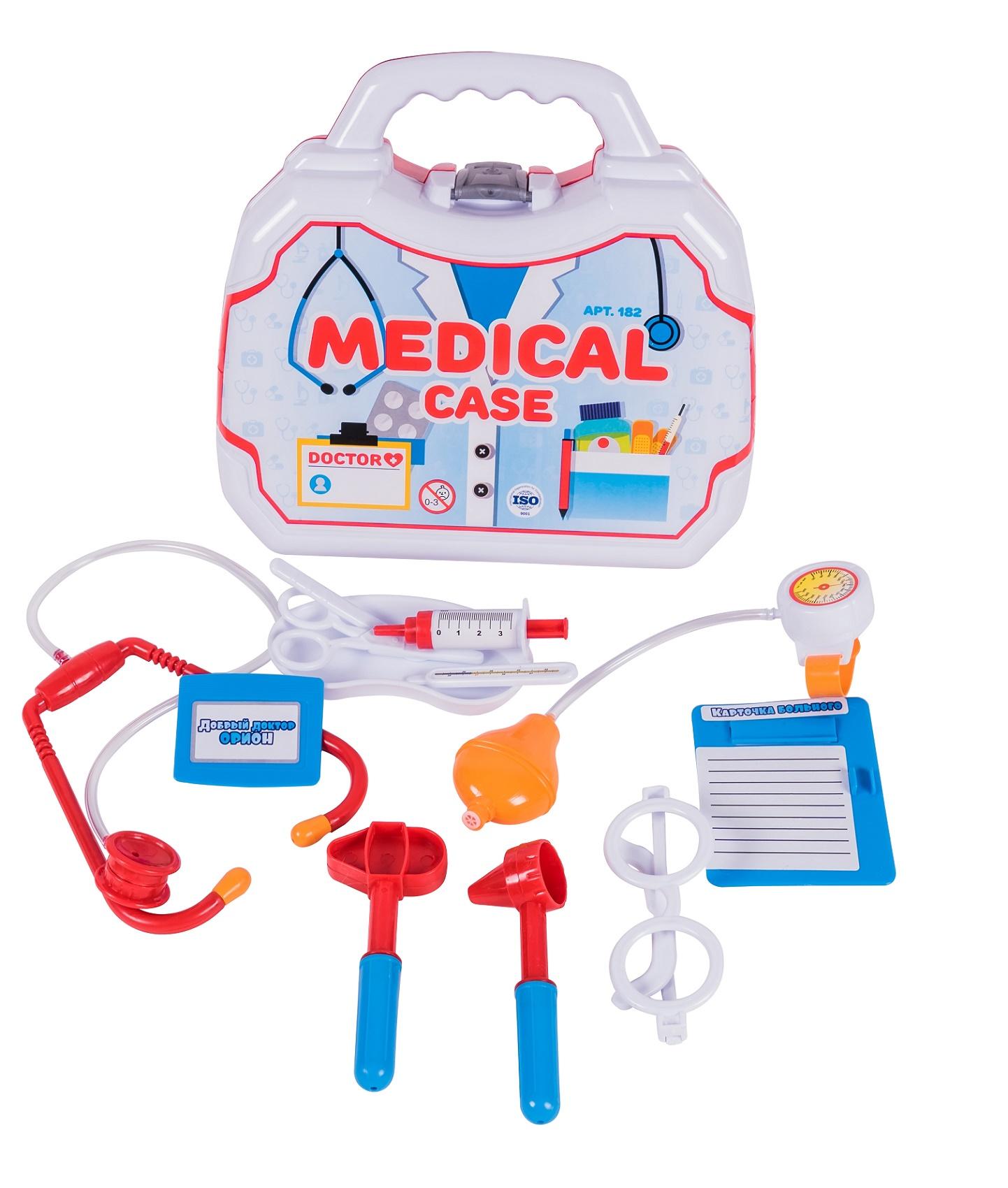 Сюжетно-ролевые игрушки ORION TOYS Медицинский 182 в чемодане, 1156592 белый, красный splashlings игровой набор медицинский центр splashlings