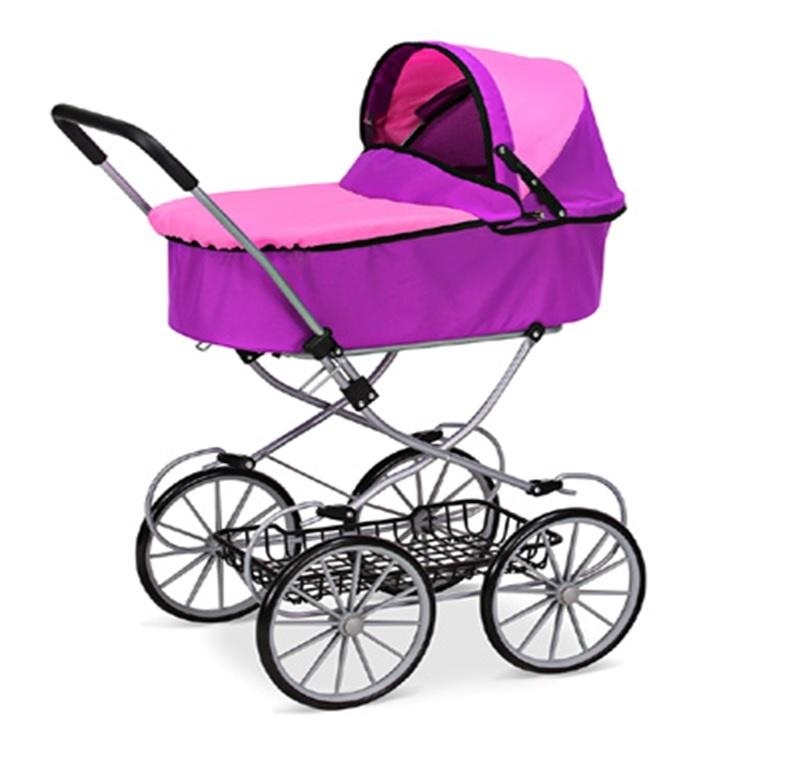 Транспорт для кукол No Name 9673 металлическая, 1125005 розовый коляска для кукол bayer design тренди цвет серый розовый