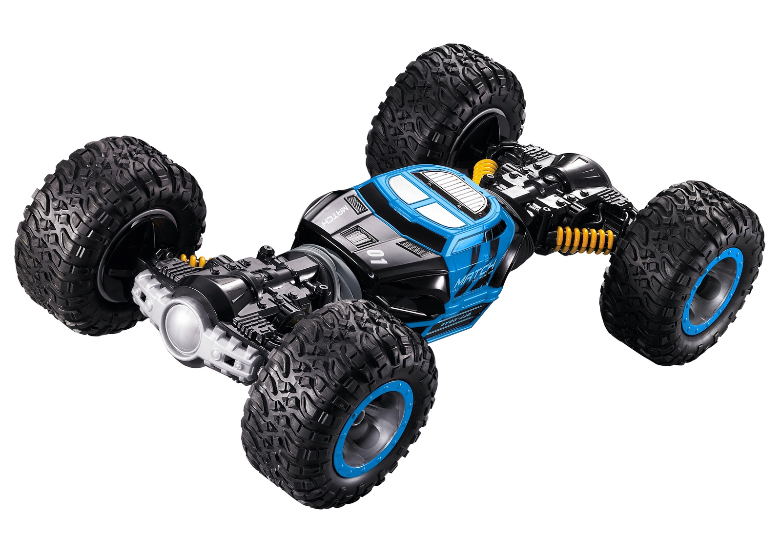 Машинка-игрушка HK Industries Радиоуправляемая машина Leopard King - гоночный внедорожник-перевёртыш синий