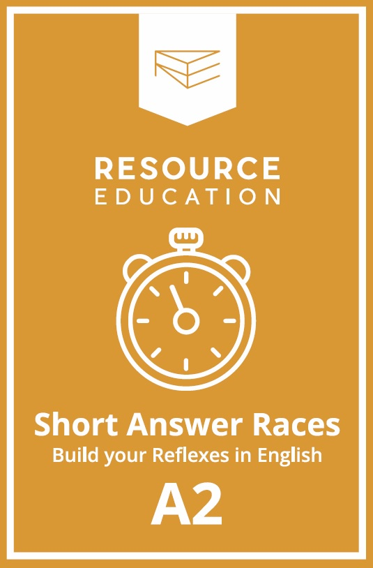 Фото - Обучающая игра Resource Education Short Answer Races, P2, 2009969220182 the teens the teens past and present 76 96