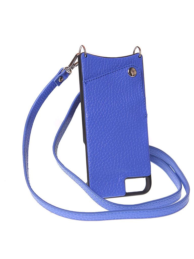 Чехол для сотового телефона Cvaly Чехол эко-кожа Cvaly для iPhone 6/7/8 синий, 01 P BE, синий