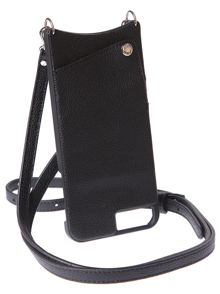 Чехол для сотового телефона Cvaly Чехол кожаный для iPhone 6+/7+/8, черный