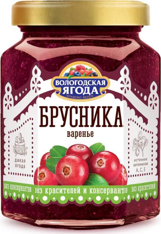 Варенье из брусники Вологодская Ягода, 320 г опрыскиватель gloria 000802 0000 дикая ягода grow дизайнерский