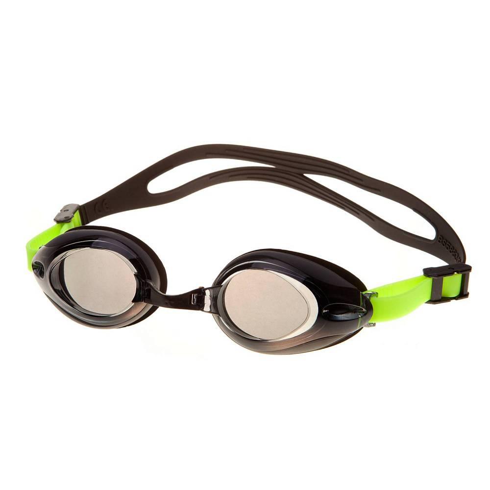 Очки для плавания Alpha Caprice AD-G3500, AD-G3500-04, черный, зеленый цена