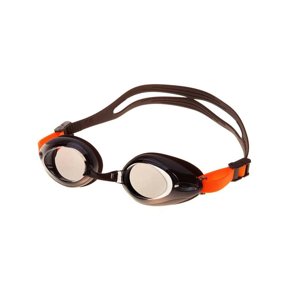 Очки для плавания Alpha Caprice AD-G3500, AD-G3500-01, черный, оранжевый цена