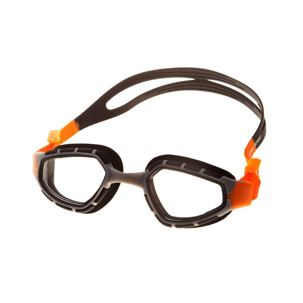 Очки для плавания Alpha Caprice AD-G6100, AD-G6100-02, черный, оранжевый цена