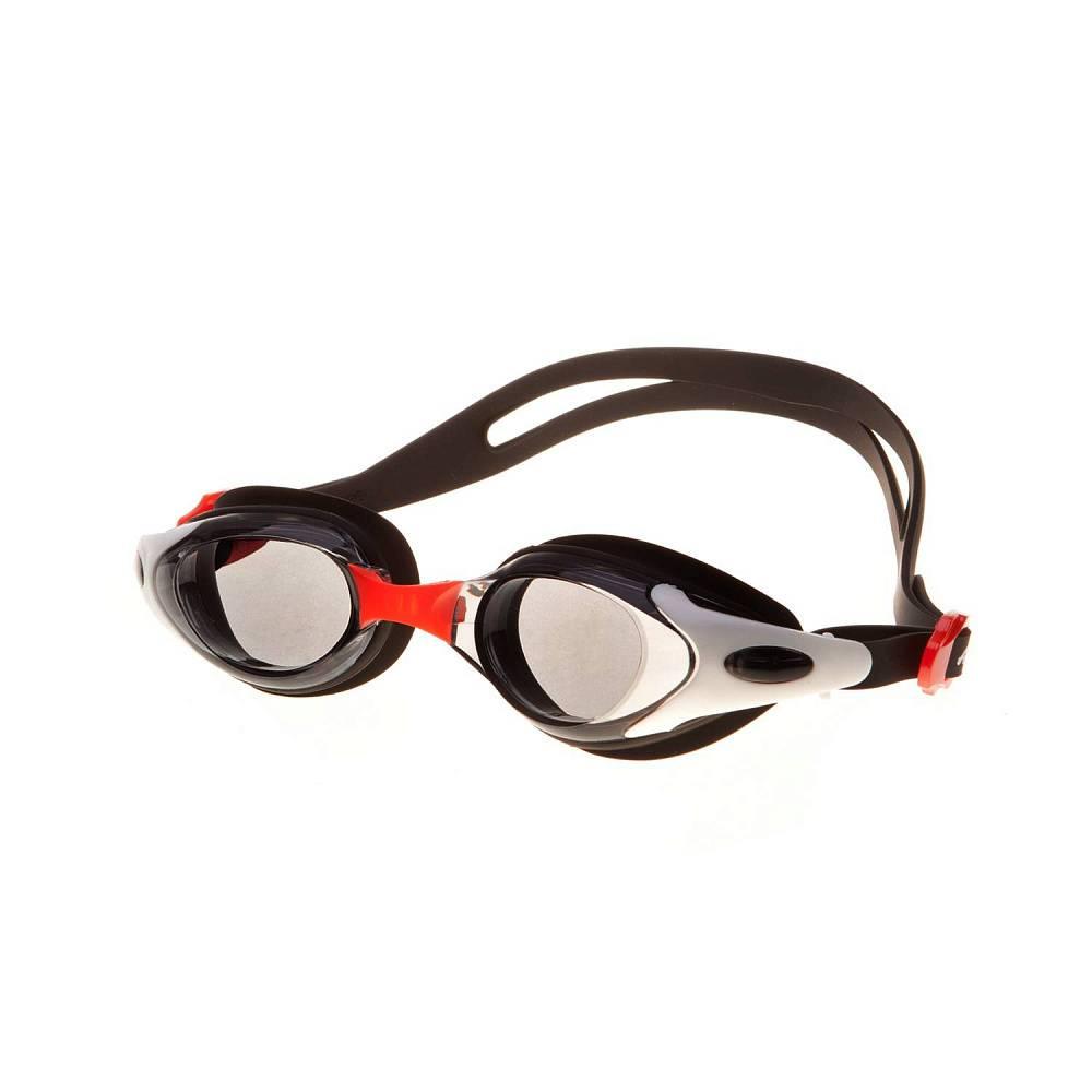 Очки для плавания Alpha Caprice JR-G1000, JR-G1000-01, черный, красный цена