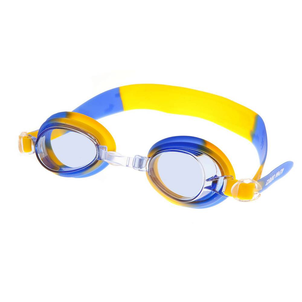 Очки для плавания Alpha Caprice KD-G20, KD-G20-05, синий, желтый цена