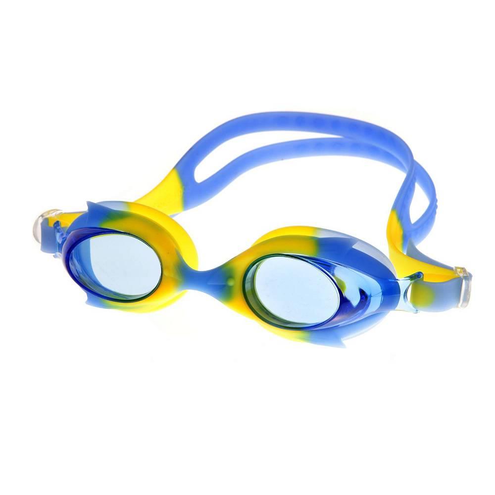 Очки для плавания Alpha Caprice KD-G40, KD-G40-03, синий, желтый цена