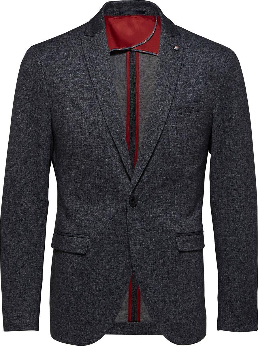 Блейзер мужской Selected Homme, цвет: серый. 16065313_Medium Grey Melange. Размер XL (52)16065313_Medium Grey Melange