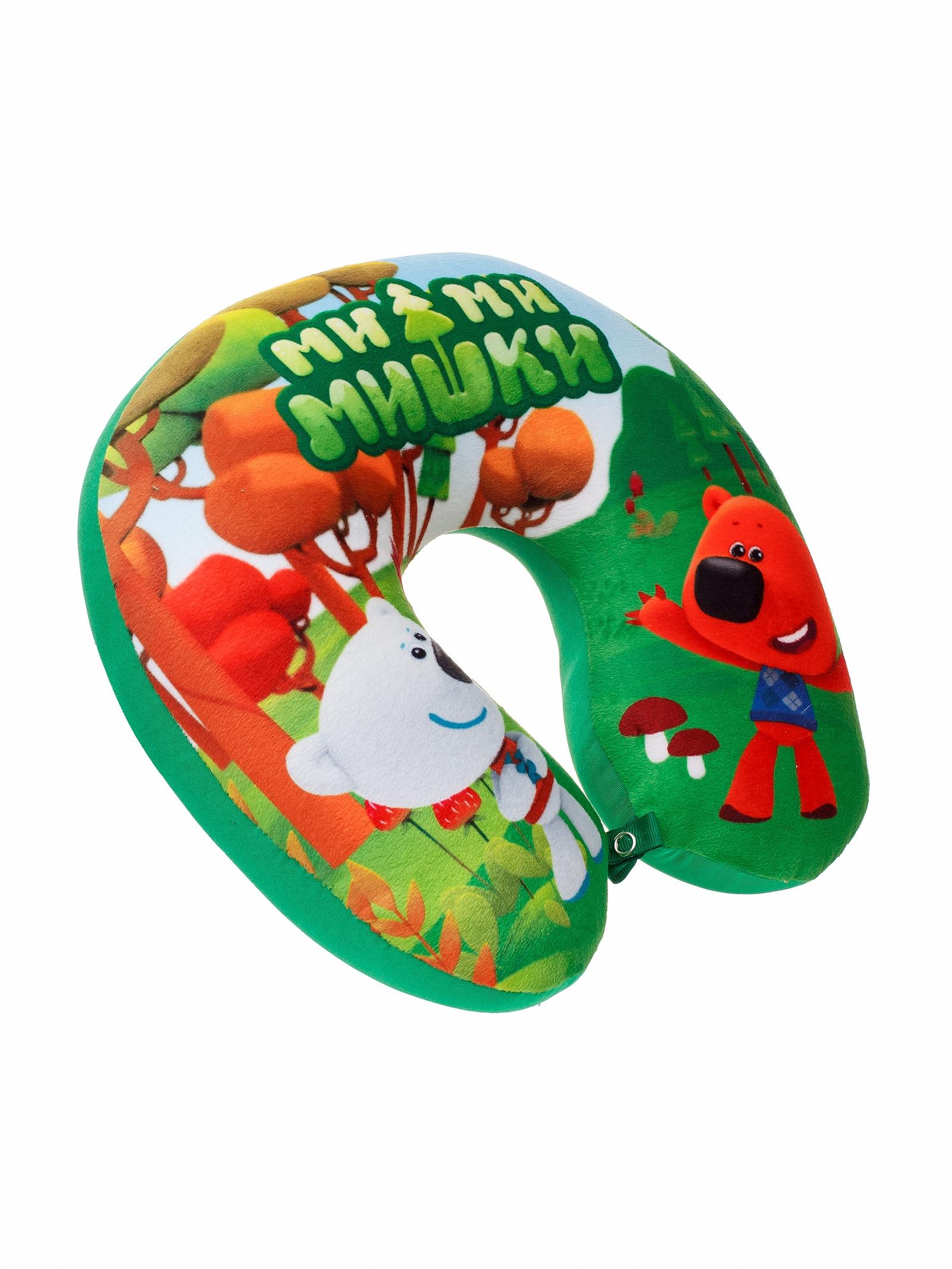Мягкая игрушка СмолТойс Игрушка-подушка Наплечник Мимимишки В29 зеленый