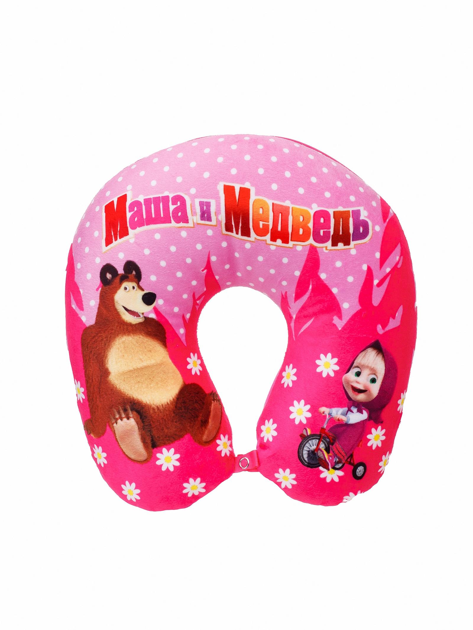 Мягкая игрушка СмолТойс Игрушка-подушка Наплечник Маша и Медведь В29, 4168/РЗ/29 розовый