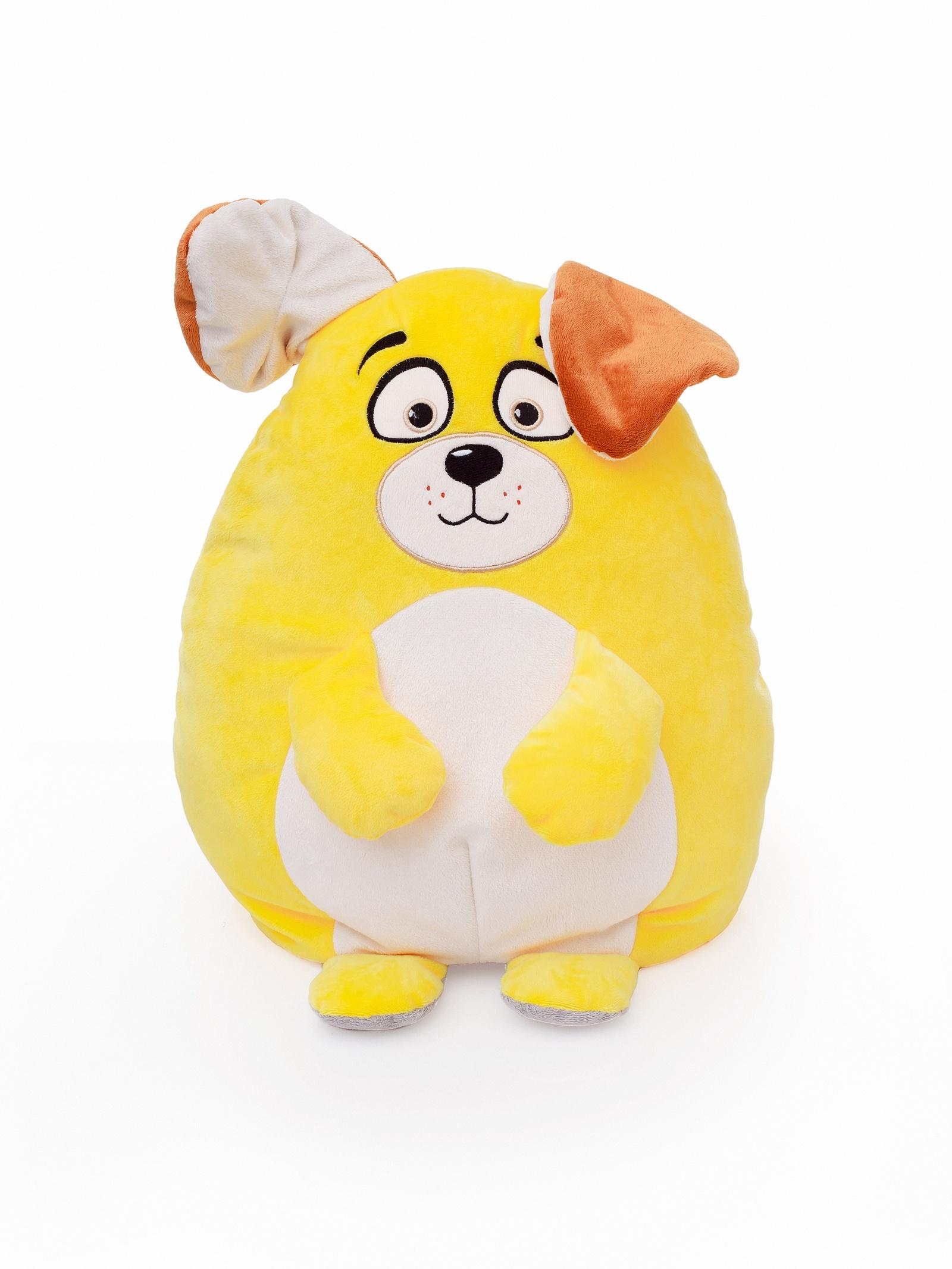 Мягкая игрушка СмолТойс Собака-кот перевертыш В45, 6182/ЦВ/45 бежевый, желтый