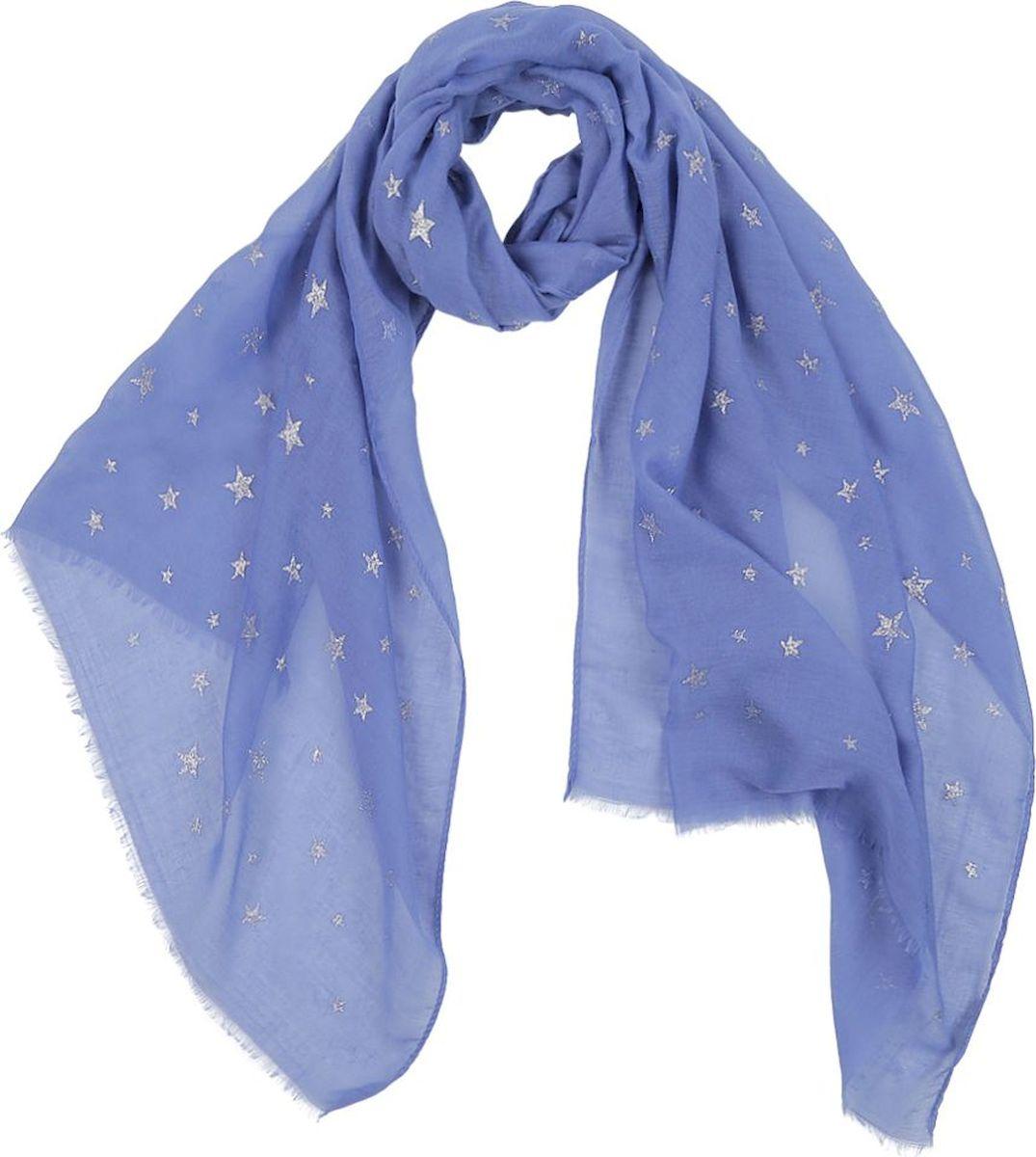 Шарф женский Fabretti, цвет: голубой. KY0559E. Размер 180 см х 70 см шарф женский sophie ramage цвет синий розовый зеленый yy 21402 3 размер 60 см х 180 см