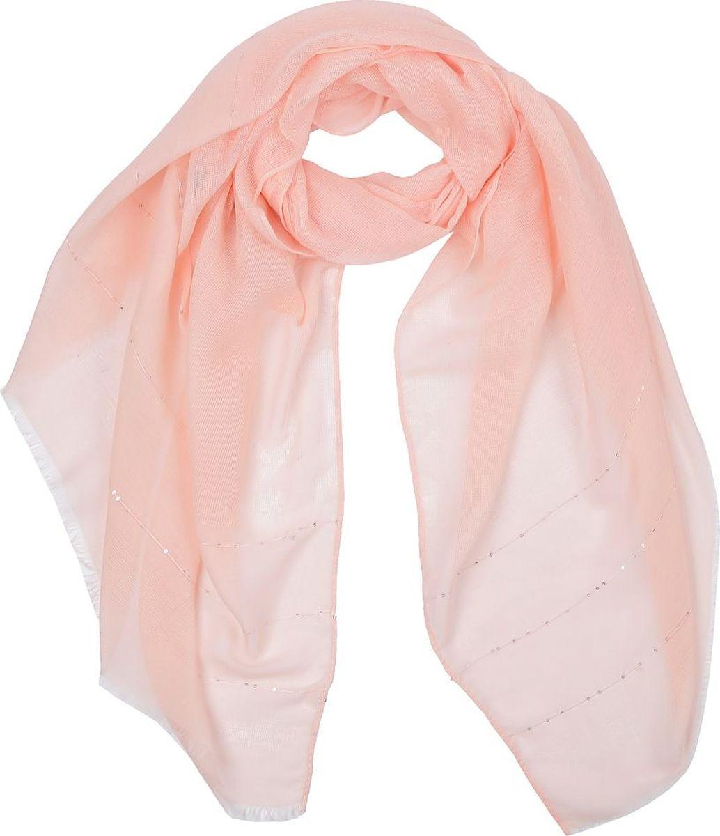 Шарф женский Fabretti, цвет: коралловый. WJ257-3. Размер 180 см х 90 см шарф женский sophie ramage цвет синий розовый зеленый yy 21402 3 размер 60 см х 180 см
