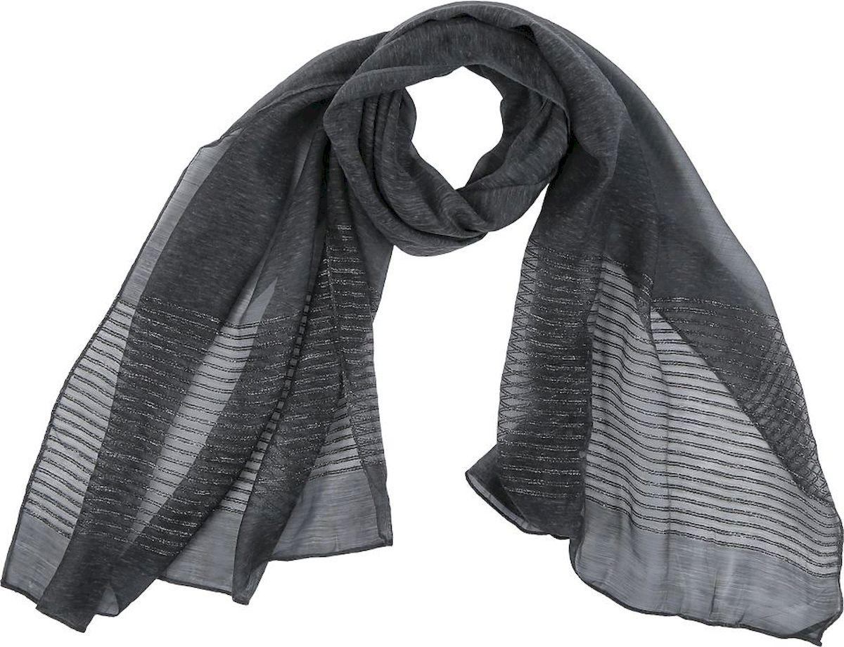 цена Шарф женский Fabretti, цвет: темно-серый. QF005-1. Размер 190 см х 70 см онлайн в 2017 году