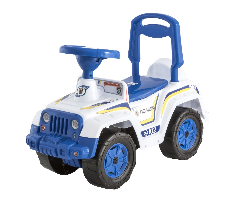 Каталка ORION TOYS машина 549 полиция белый, синий