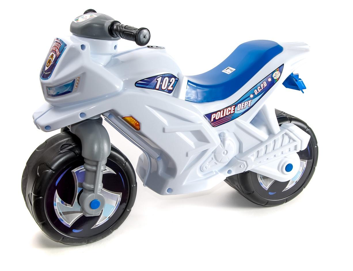Каталка ORION TOYS Мотоцикл 501 полиция, 1009242 белый, синий
