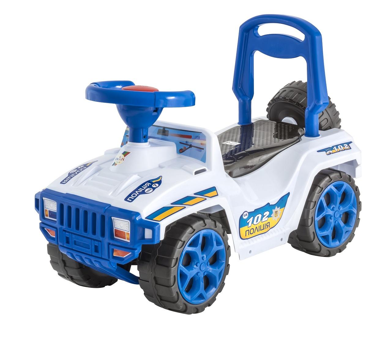Каталка ORION TOYS Машина Ориончик 419 полиция белый, синий