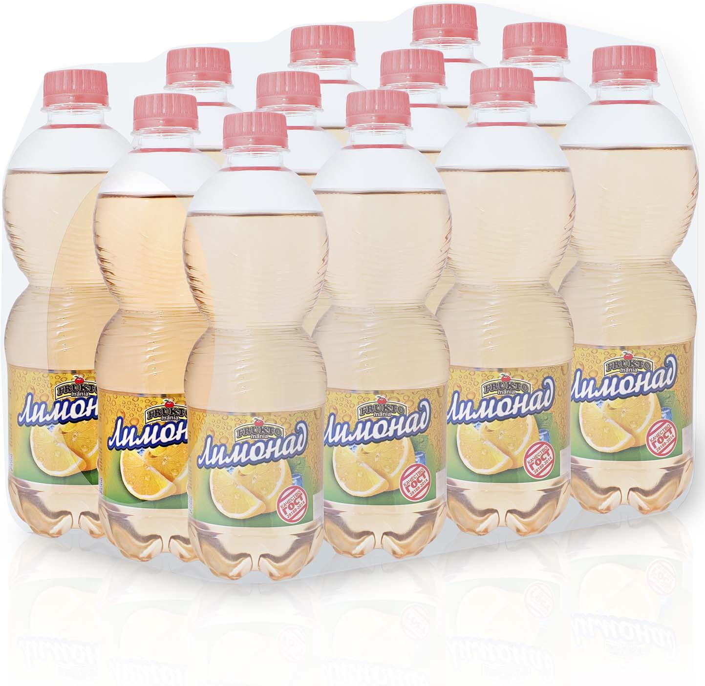 Лимонад Fruktomania, лимонад, 12 шт по 0,5 л лимонад fruktomania лимонад оригинальный 6 шт по 1 5 л