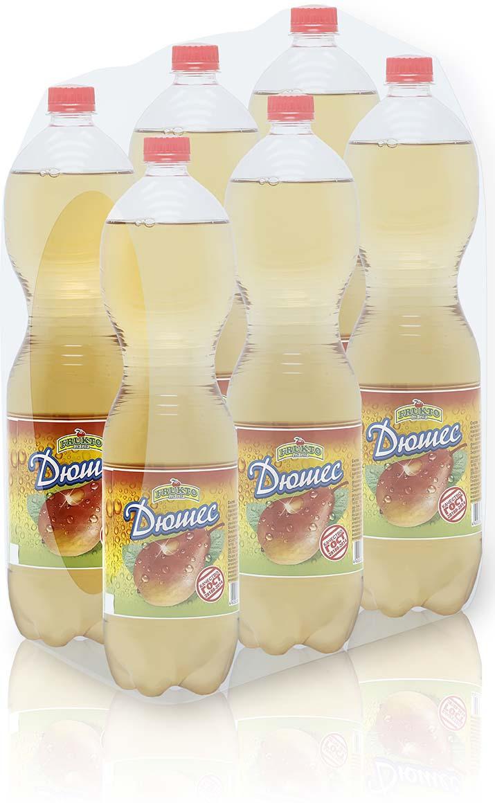 Лимонад Fruktomania, дюшес, 6 шт по 1,5 л лимонад напитки из черноголовки дюшес 6 шт по 1 л