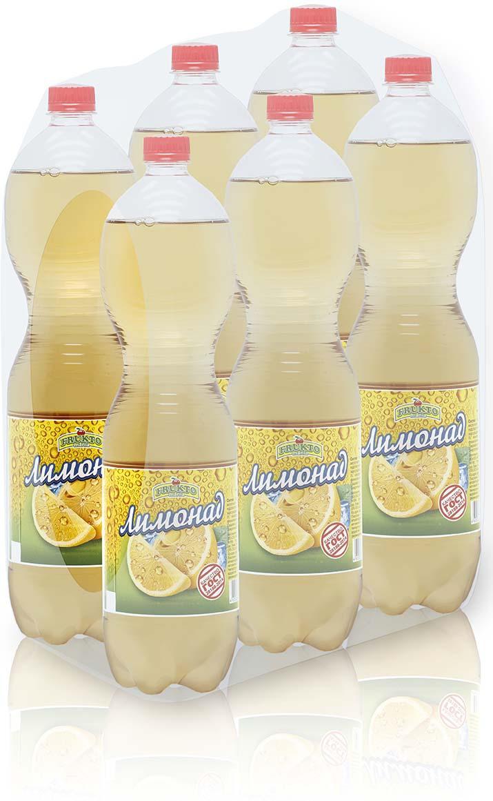 Лимонад Fruktomania, лимонад, 6 шт по 1,5 л лимонад fruktomania лимонад оригинальный 6 шт по 1 5 л