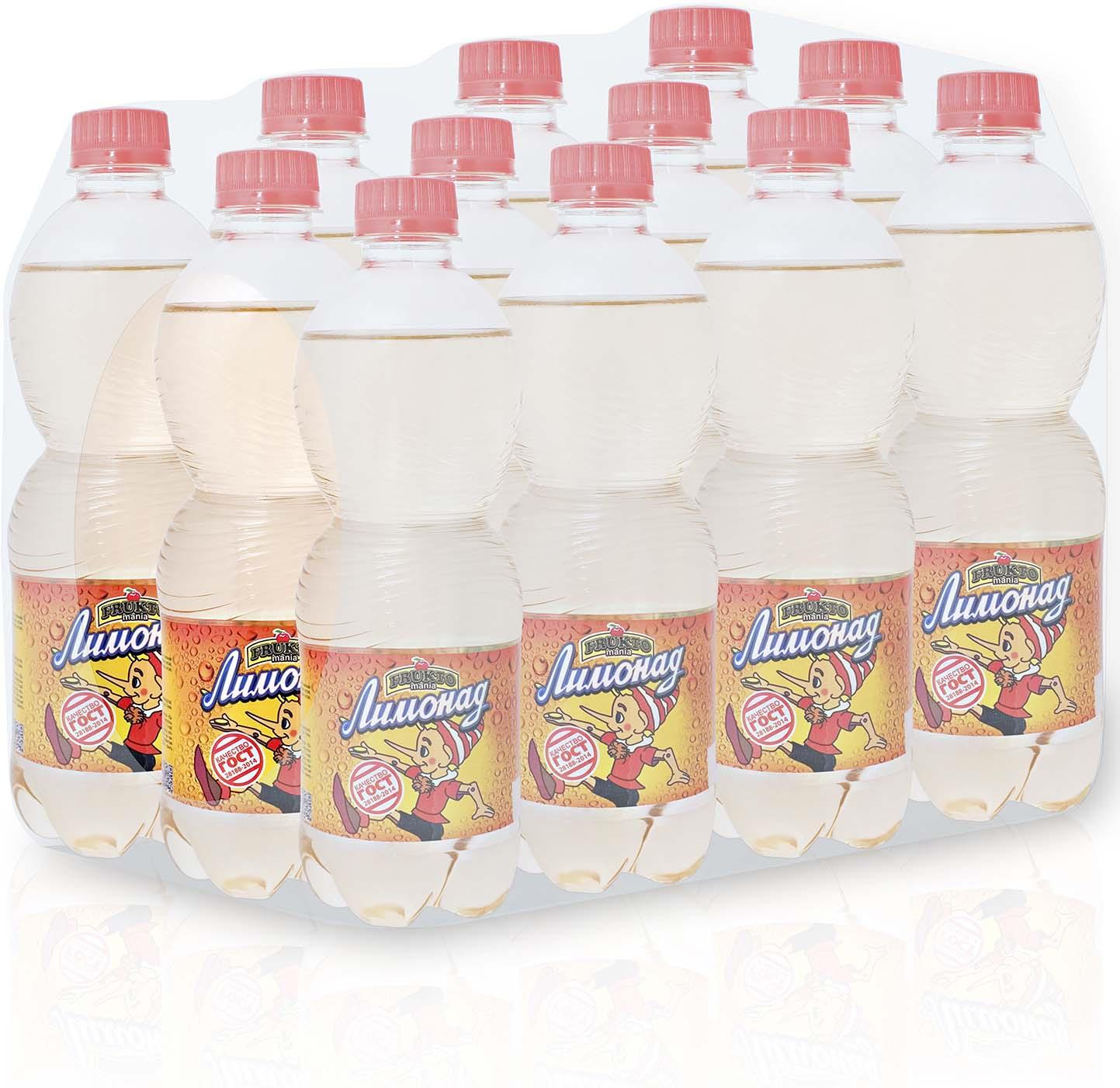 Лимонад Fruktomania, лимонад оригинальный, 12 шт по 0,5 л лимонад fruktomania лимонад оригинальный 6 шт по 1 5 л