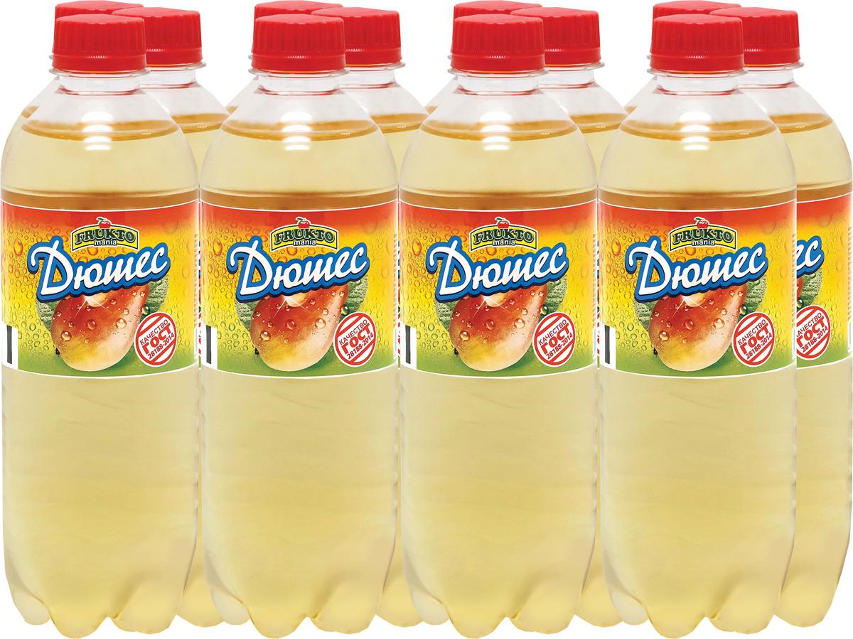 Лимонад Fruktomania, дюшес, 12 шт по 0,5 л лимонад fruktomania лимонад оригинальный 6 шт по 1 5 л