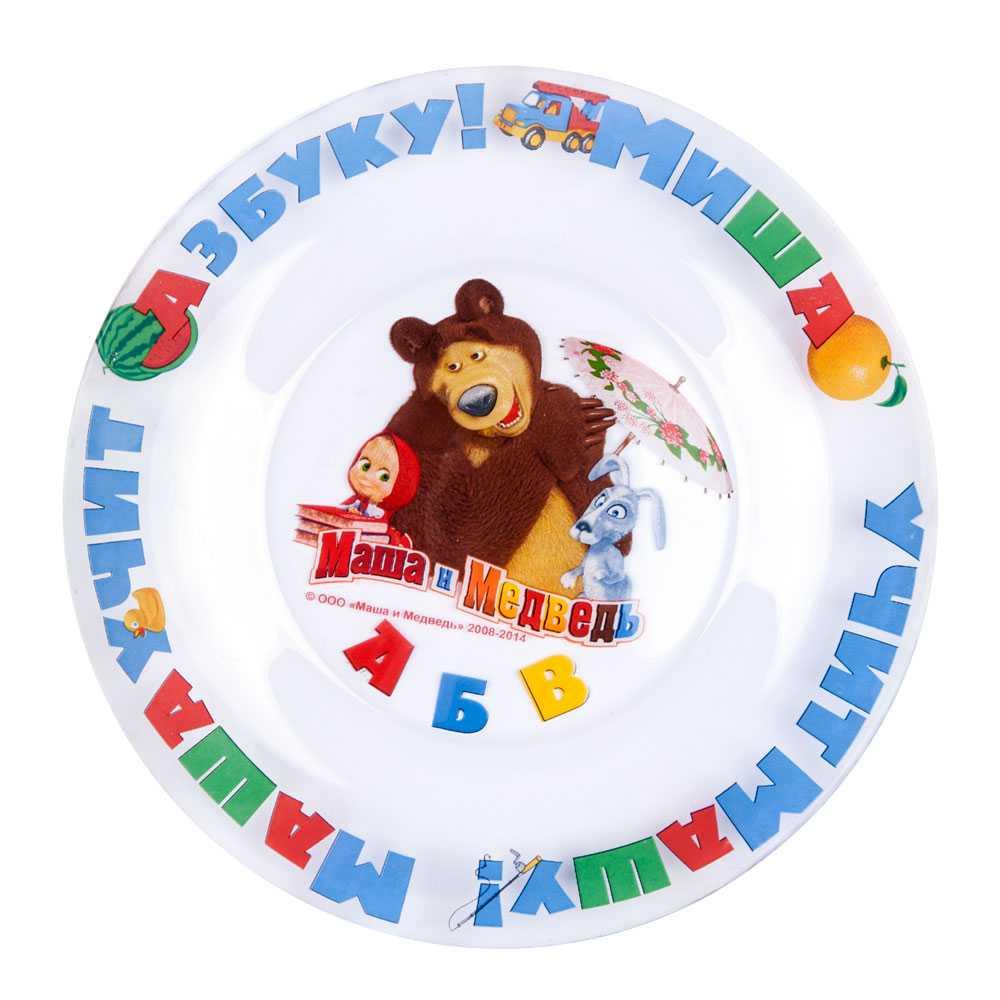 Тарелка Маша и Медведь 1032702, 1032702, Стекло