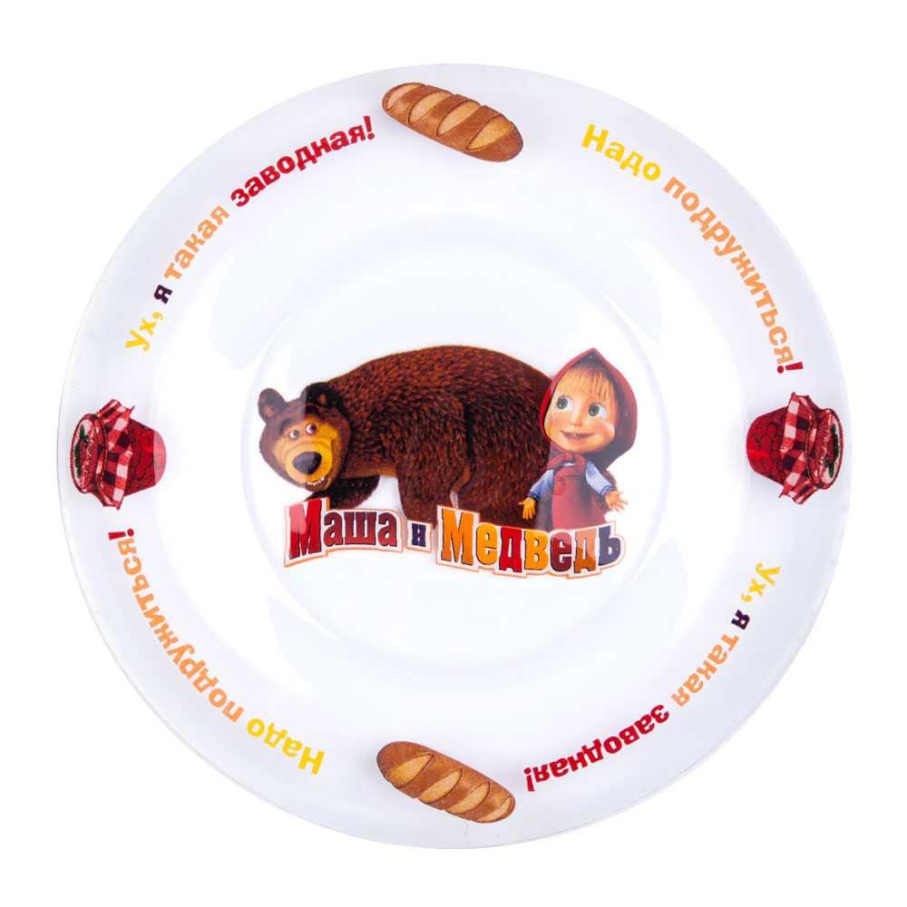 Тарелка Маша и Медведь 1032705, 1032705, Стекло