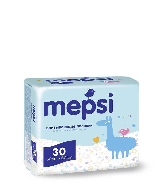 Пеленки детские впитывающие MEPSI, 60х60, 30 шт