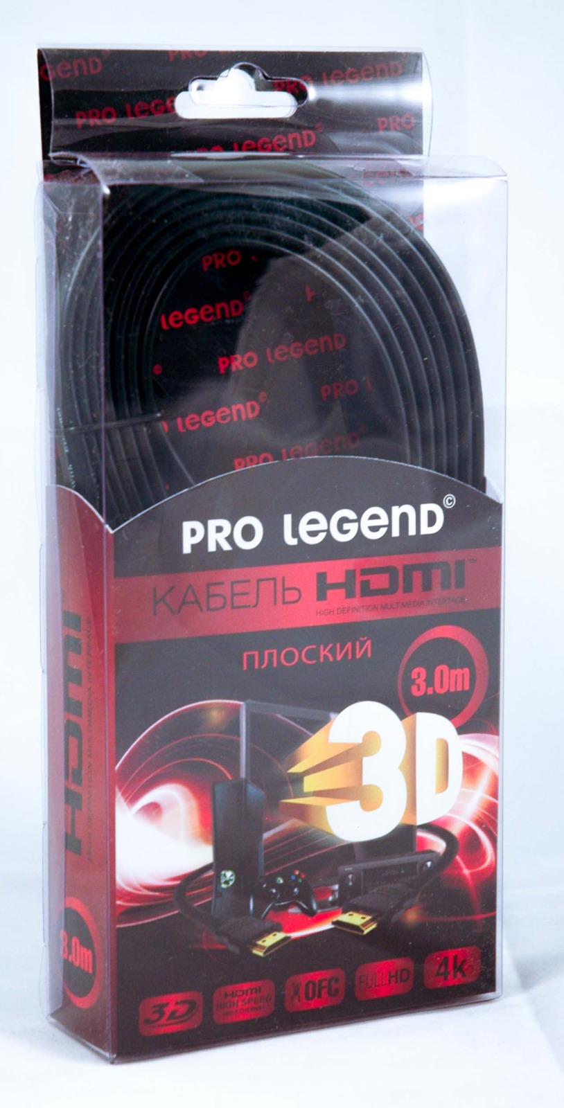 Фото - Кабель Pro Legend HDMI (M) - HDMI (M), HDFW3, ver. 1.4, HDFW3, белый, 3 м видео