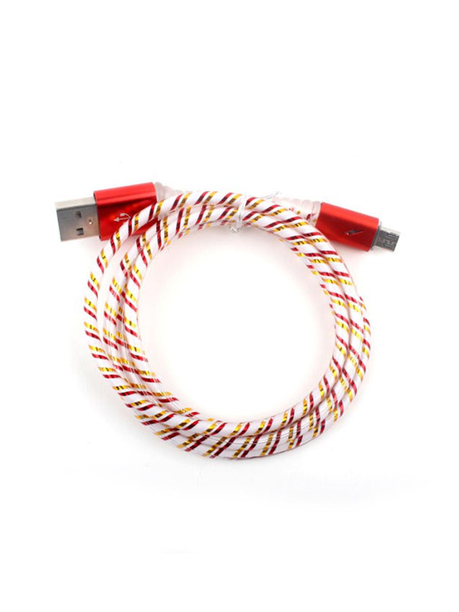 Кабель TipTop Кабель USB-micro USB светящийся, 4605180028200, золотой, синий, красный